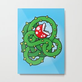 Audrey II: The Piranha Plant Metal Print