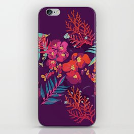 flower party iPhone Skin