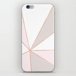GEO SUNBURST ROSEGOLD PASTEL iPhone Skin
