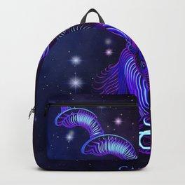 Zodiac neon signs — Capricorn Backpack
