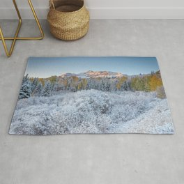 COLORADO ROCKY MOUNTAIN SUNRISE TELLURIDE DRAMATIC LANDSCAPE Rug