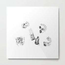 Skins: effy, jj, sid, cassie, freddie Metal Print