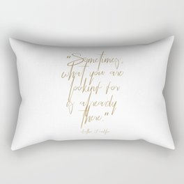 Aretha Franklin's thoughts Rectangular Pillow