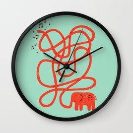 Eletrump Red Wall Clock