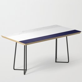 Marble White Royal Blue Coffee Table