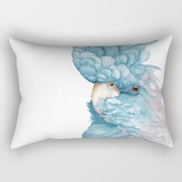 Black cockatoo watercolor Rectangular Pillow