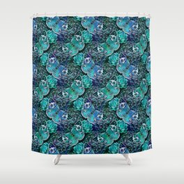 Butterflies In Blue Shower Curtain