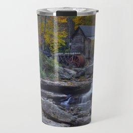Glade Creek Grist Mill in Autumn Travel Mug