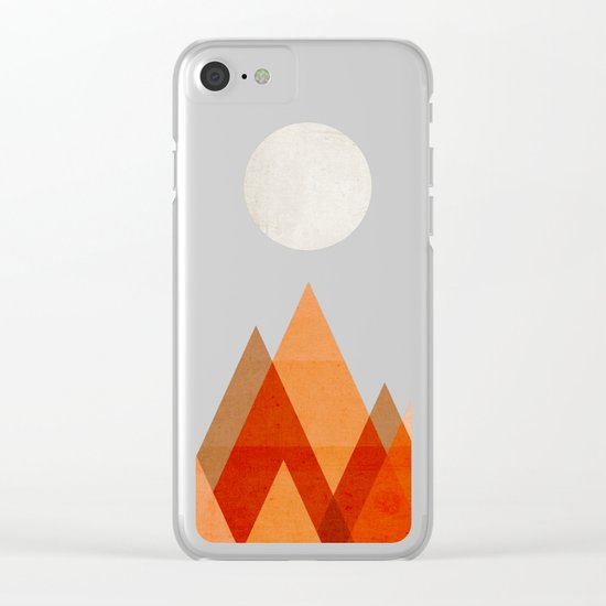 Full moon over Sahara desert Clear iPhone Case