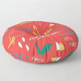ODE TO BASQUIAT Floor Pillow