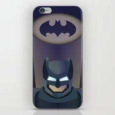 Bat man helmet fanart iPhone & iPod Skin