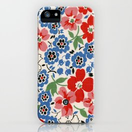 UPPERCASE feedsack floral iPhone Case