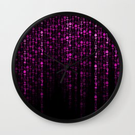 Bright Neon Pink Digital Cocktail Party Wall Clock