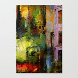 In a street of Paris Canvas Print