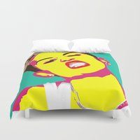 miley Duvet Covers featuring Miley Cyrus by Becky Rosen