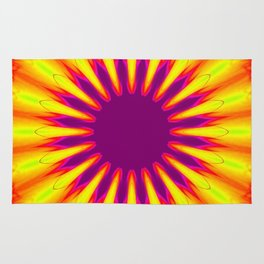 Sunrise Color Burst Flower Rug