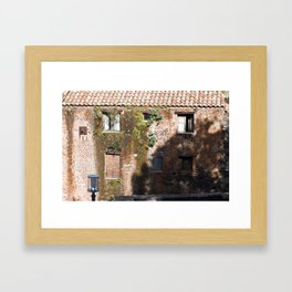 "Abandoned Building - Catania - Sicily - ""Vacancy"" zine Framed Art Print"