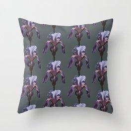 iris: shades of grey Throw Pillow