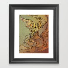 abstract floral composition 2 Framed Art Print