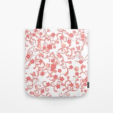 Abstract Cherry Blossom Pattern Tote Bag
