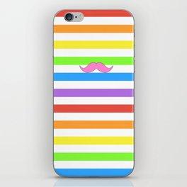 Pink Rainbow Mustache Madness! iPhone Skin