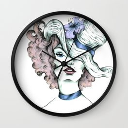 Orchid hat Wall Clock