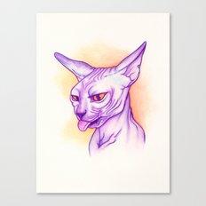 Sphynx cat #02 Canvas Print