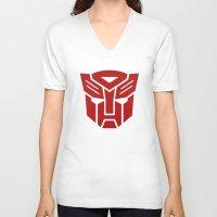 transformers V-neck T-shirts featuring Transformers by tshirtsz