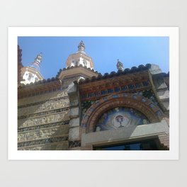 Lloret de Mar church - Catalunya - Spain Art Print