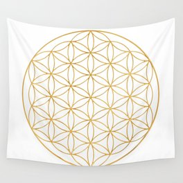 Flower Of Life, Mother Of The Tree Of Life And The Metatron's Cube Wall Tapestry