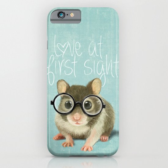 Little mouse in love iPhone & iPod Case