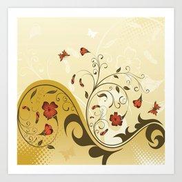 Art Flowers V13 Art Print
