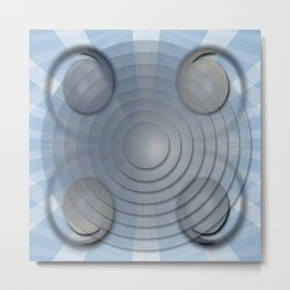 Lynch Concentric Circles Metal Print