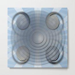 Lynch Concentric Circles Metal Print
