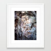 budi satria kwan Framed Art Prints featuring Kwan Yin Buddhist Carving - Marble Mountain, Danang, Vietnam by Kurtis Ostrom Photography
