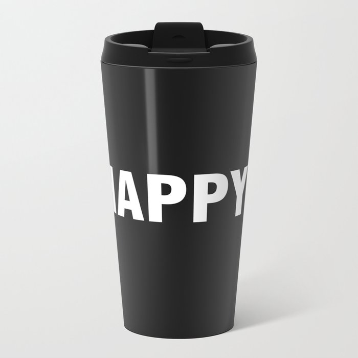 HAPPY Metal Travel Mug