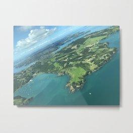 Waiheke Island - Aerial View Metal Print