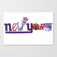 yankees Canvas Prints featuring New York by Michela Deck