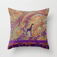 morocco Throw Pillows featuring  boho morocco by Ariadne