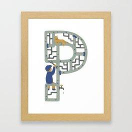 P as Plumber Framed Art Print