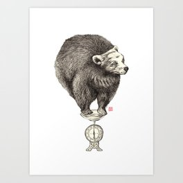 Bear your weight Art Print
