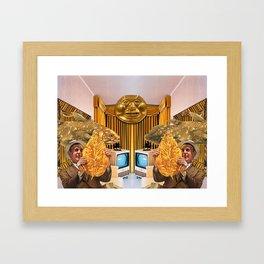 Mr. Jinx Gets Gold Fever Framed Art Print