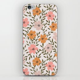 70s Floral Theme iPhone Skin