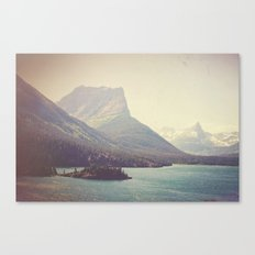 Retro Glacier Canvas Print