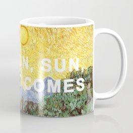 Here Comes the Yellow Sky and Sun Coffee Mug