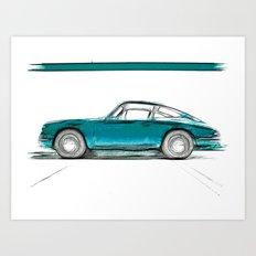 Porsche 911 / V Art Print