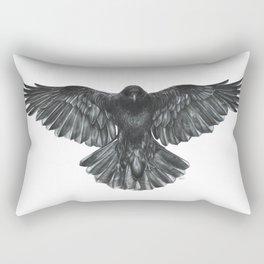 Crow in Flight Rectangular Pillow