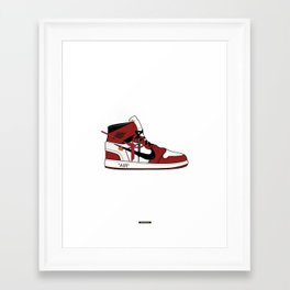 Jordan I x Off White Framed Art Print