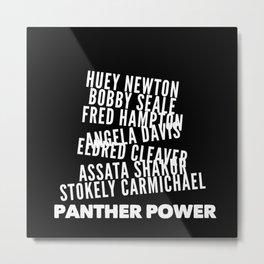 Panther Power Metal Print