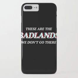 Halsey 3D Glitch Badlands Quote iPhone Case
